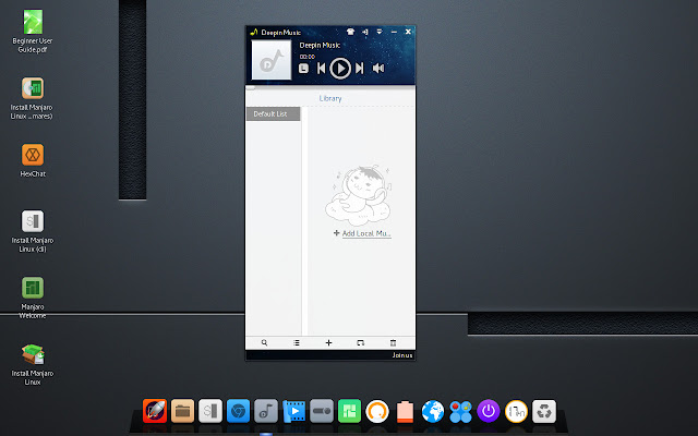 Deepin music player