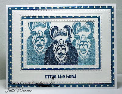 North Coast Creations Stamp Set: Llama Tell You, ODBD Custom Dies: Double Stitched Rectangles, Rectangles, Pierced Rectangles
