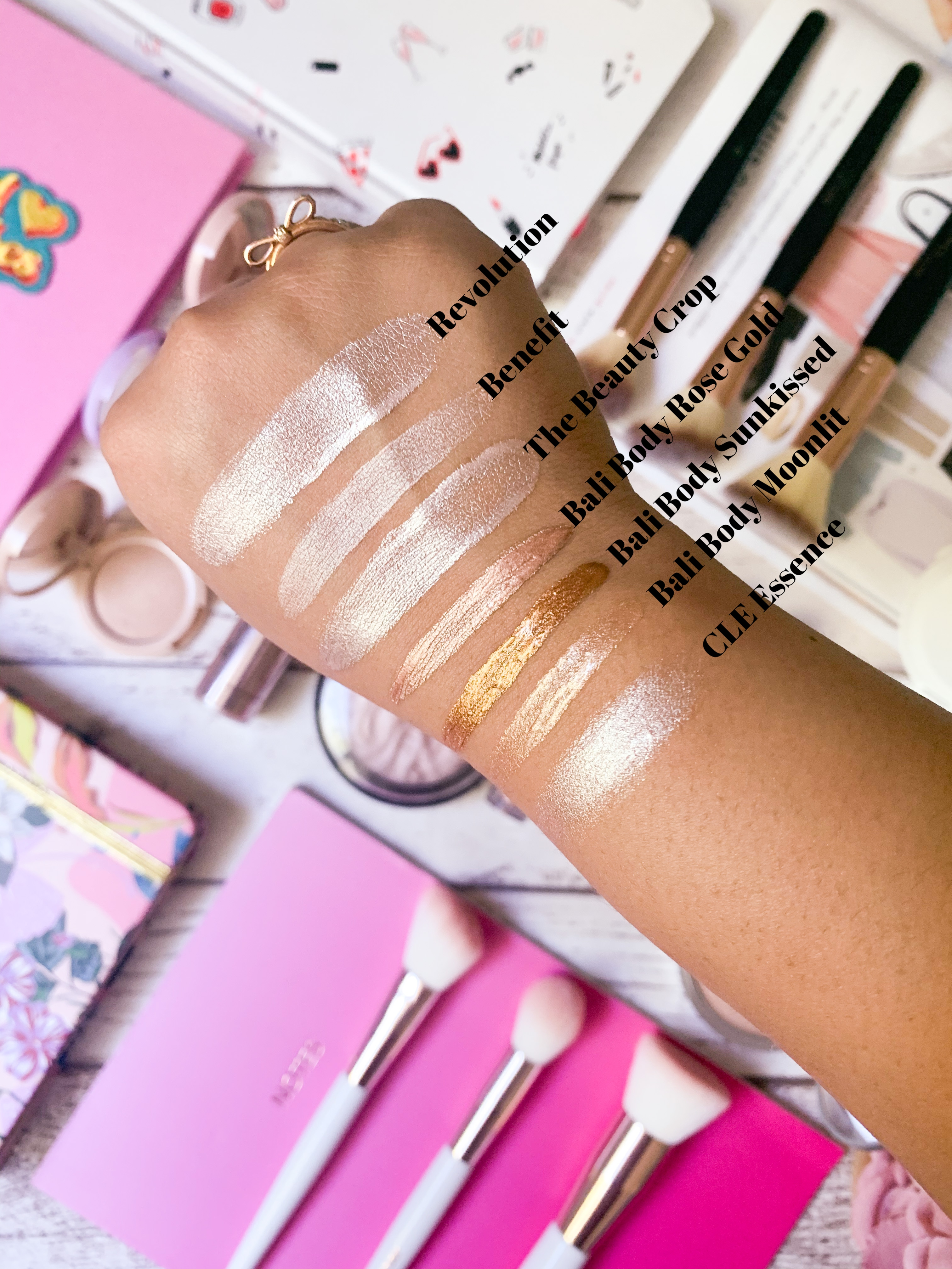 Liquid Highlighter Swatches