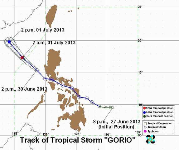 Typhoon Gorio june 30,2013 update
