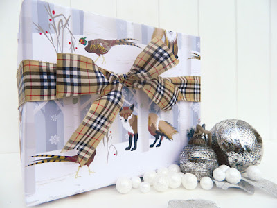 Fox & Pheasant giftwrap design by Jane Crick