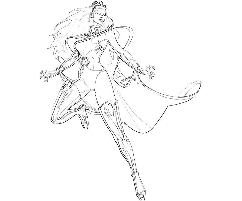 storm coloring pages - marvel ultimate alliance 2 storm superhero mario