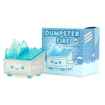 """""""Frosty Trash"""" Dumpster Fire Vinyl Figure by 100% Soft"""