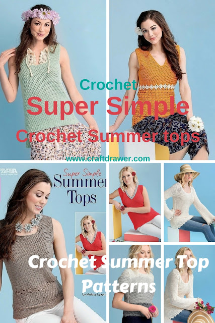 Crochet Easy Tank Tops and Sweaters for Summer with these great patterns