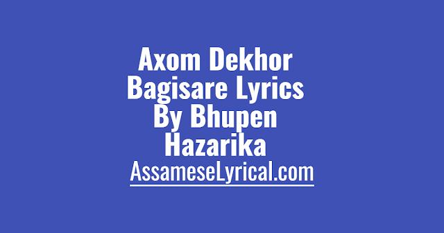 Axom Dekhor Bagisare Lyrics