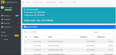 Source Code Aplikasi Keuangan Masjid [GRATIS]