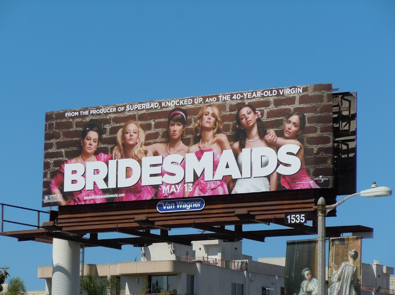 Bridesmaids film billboard