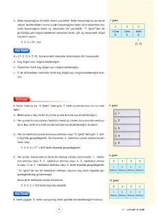 10. Sınıf Matematik Ders Kitabı Cevapları Aydın Yayınları Sayfa 6