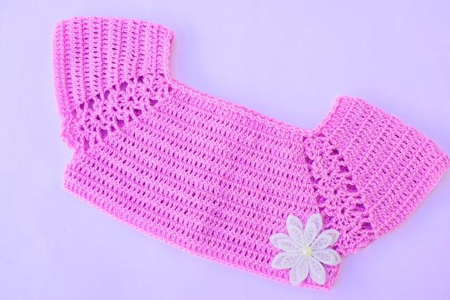 2 - Crochet Imagen Lindo canesú morado a crochet y ganchillo por Majovel Crochet