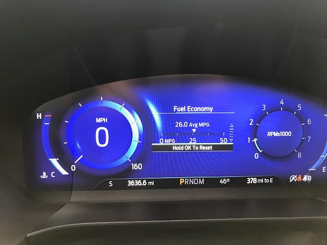 Gauge cluster in 2020 Ford Escape Titanium AWD