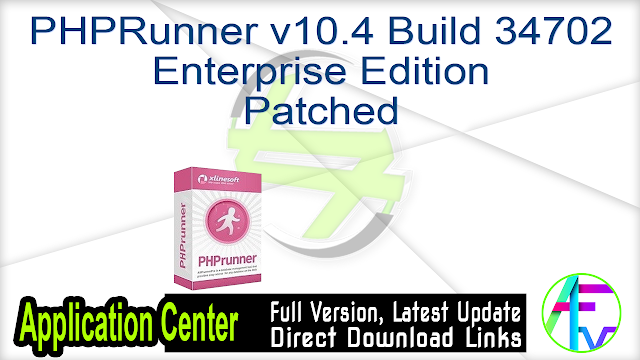 PHPRunner v10.4 Build 34702 Enterprise Edition – Patched