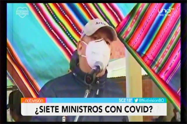 """Ministro de Gobierno: """"Ya van siete ministros que han caído con coronavirus"""""""