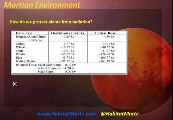 Some plants are not as sensitive to radiation damage (Source: Nikita Dvay, HabitatMarte.com)