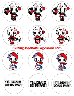 tokidoki 'til death do us part cupcake toppers