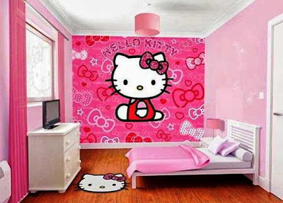 desain kamar tidur hello kitty terbaru