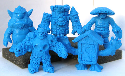 OMFG! Mini Figure Series 1 - Stroll, Multiskull, King Castor, Phantom Outhouse & Crawdad Kid Blue Vinyl Figures