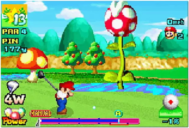 mario golf advance tour gba nitendo gameboy