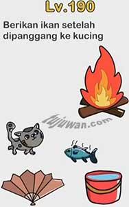 Jawaban Brain Out Berikan Ikan Setelah Dipanggang Ke Kucing Level 190