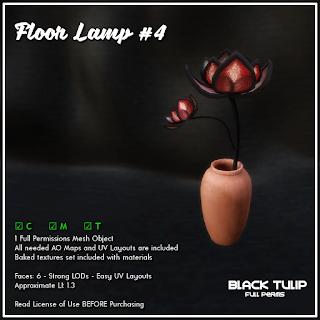 [Black Tulip] Mesh - Floor Lamp #4