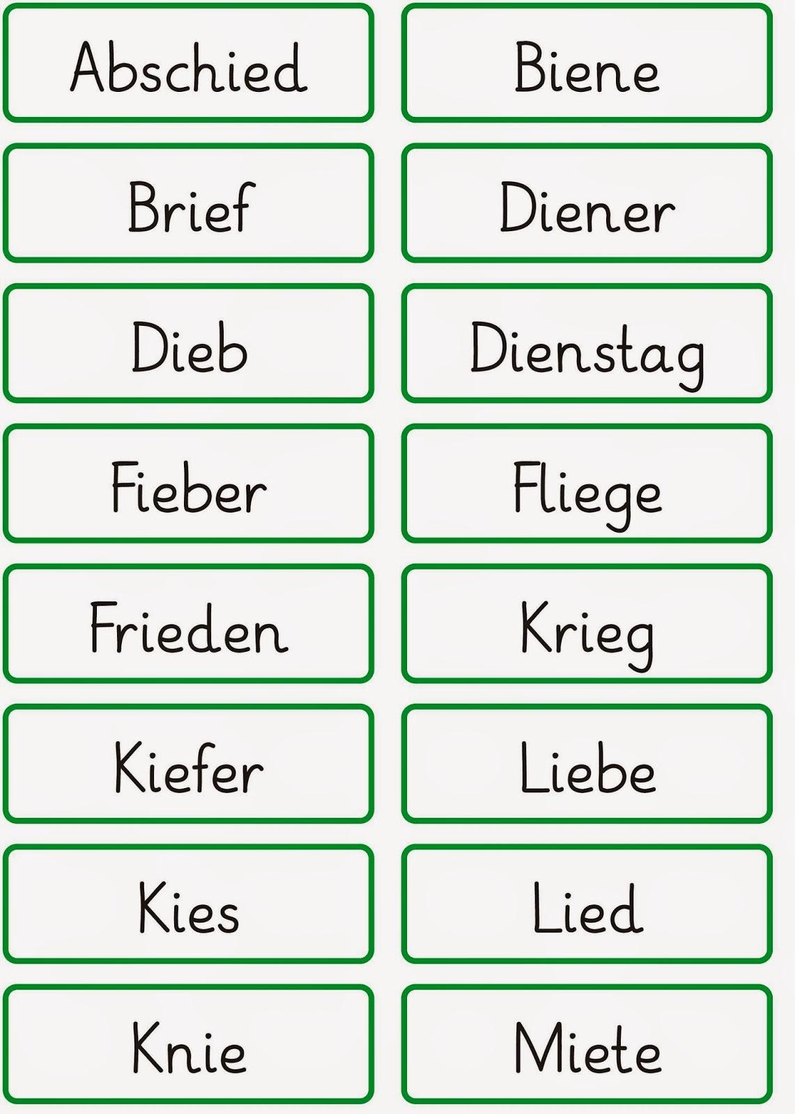 Wörter Mit F