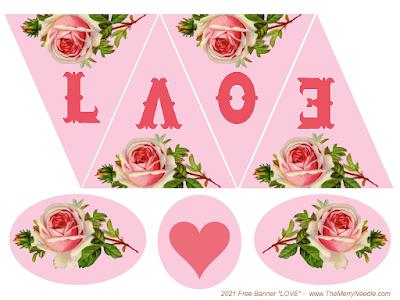 diy cardstock banner valentines free freebie printable digital