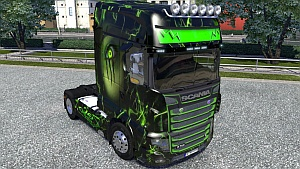 Monster Skin + Grill Paint mod for Scania R700