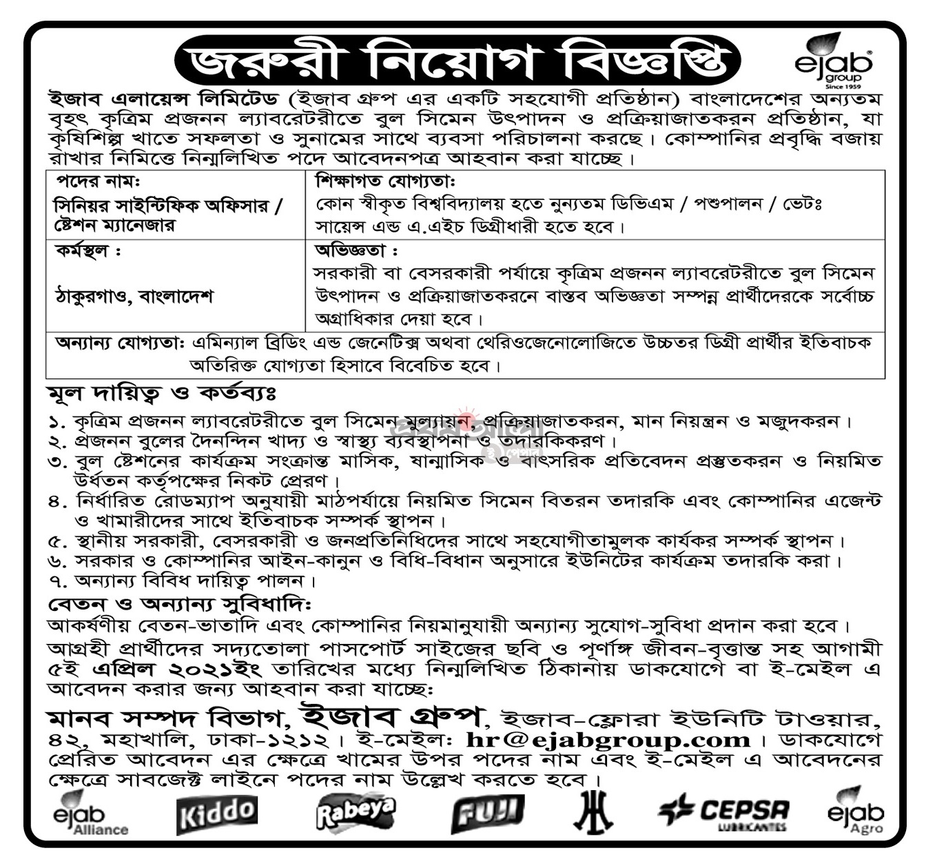 All private company Job Circular 2021 - besorkari chakrir khobor 2021 - বেসরকারি চাকরির খবর ২০২১