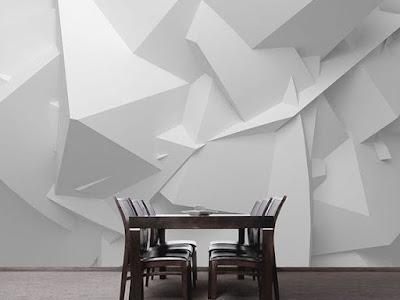 3D white wallpaper for walls 2018
