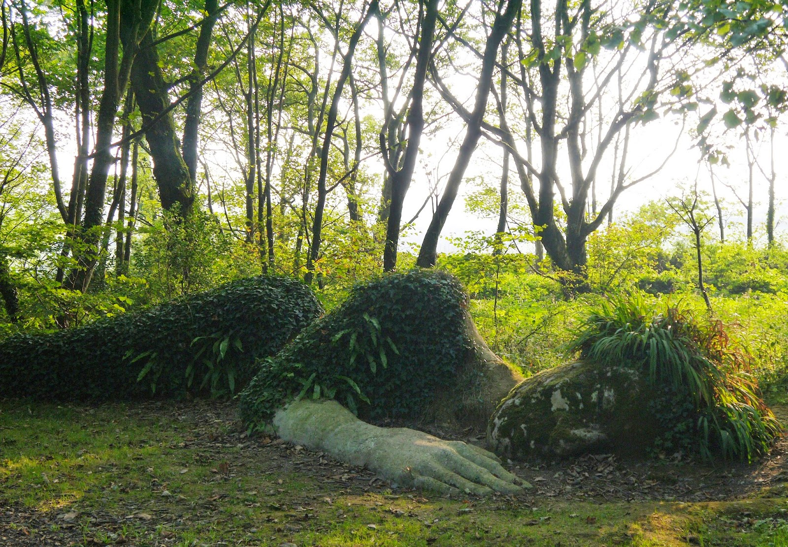 The Lost Gardens of Heligan, Cornwall - sleeping woman