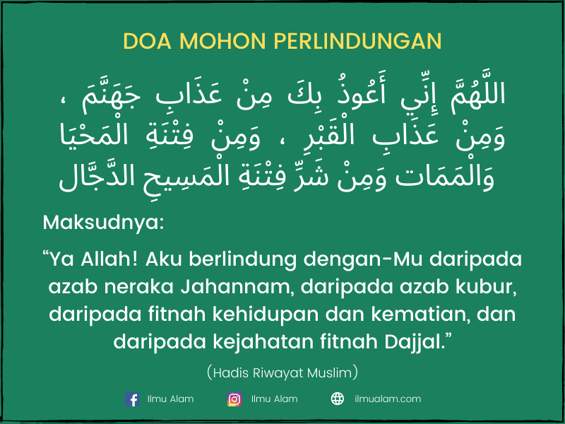 doa selepas tahiyat akhir sebelum bagi salam