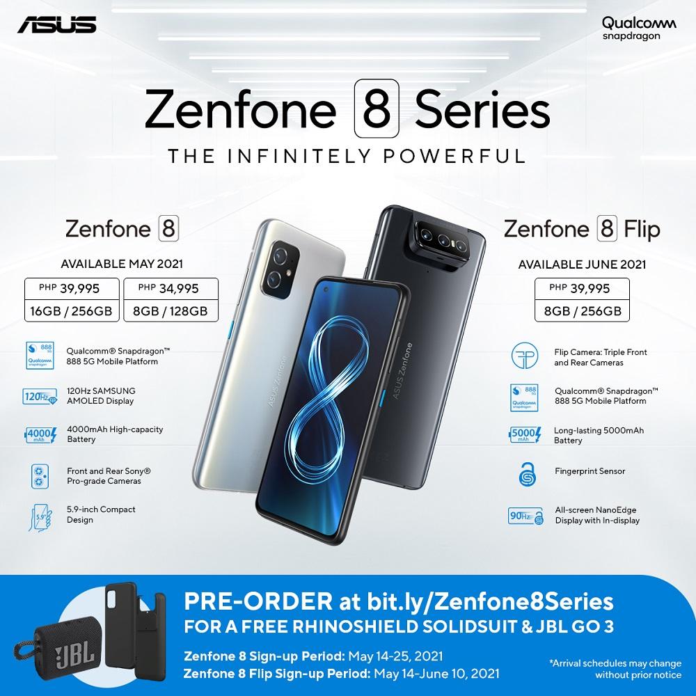 ASUS Zenfone 8 Series Pre-order Details