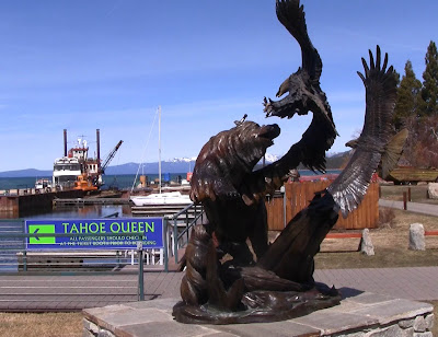 Bear vs. Eagle Bronze Statue