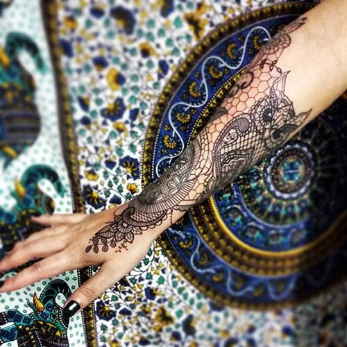 dantel dövmeleri lace tattoos 34