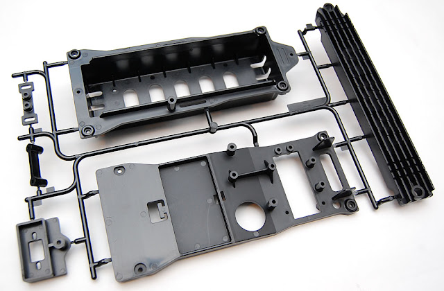 Tamiya TXT-1 battery tray parts