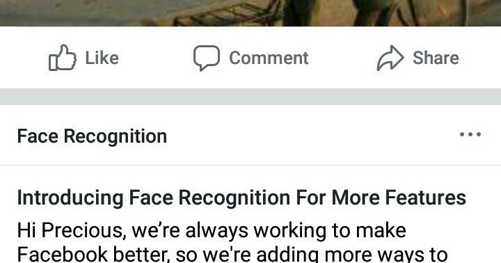 Finally Facebook added facial recognition feature to their app