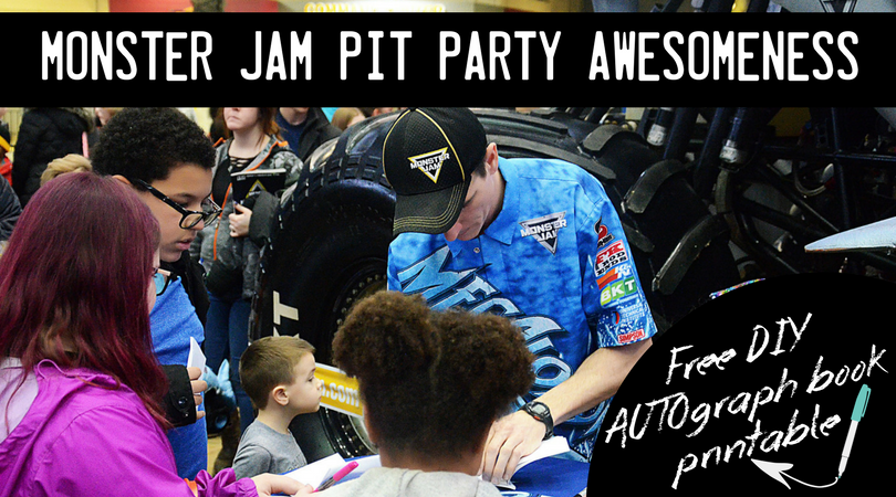 Monster Jam Pit Party Autograph Sessions + Free Printable AUTOgraph Book