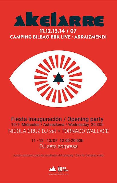 bilbao, bbk, live, akelarre, camping, escenario, cartel, 2019, horarios