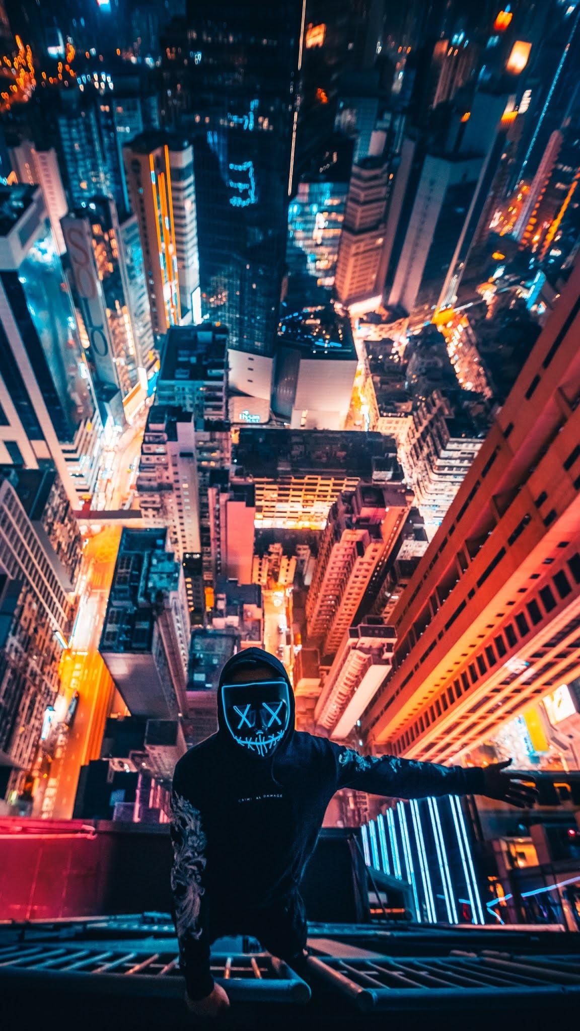 anonymous man selfie 4k wallpaper