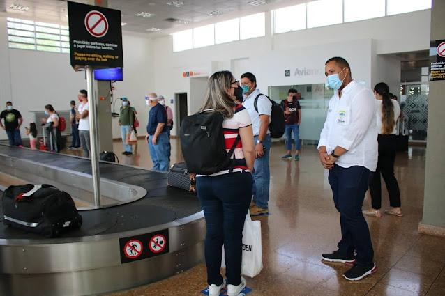 hoyennoticia.com, Aeropuerto Almirante Padilla reinició operaciones
