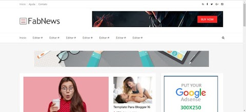 FabNews Blogger Template Responsive