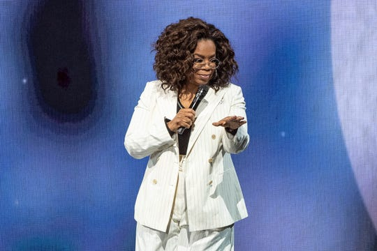 Video: Oprah Winfrey falls down at wellness tour while talking about 'balance;' loses shoes