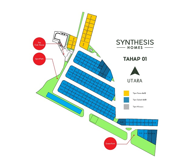 SITE PLAN Synthesis Homes Tahap 01
