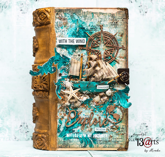 "Książka Altered Art ""Morskie Opowieści""/ Altered Book ""Tales of the Sea"""