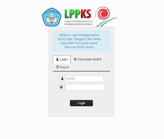 http://lppks.kemdikbud.go.id/nuks/login.php Cara Login, Cek dan Mendapatkan NUKS