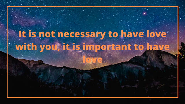 Love Important Necessary