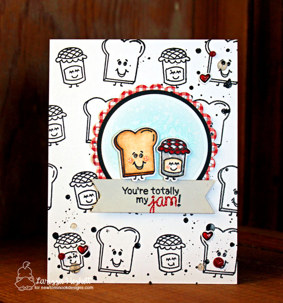You're my Jam card by Larissa Heskett | Love Bites Stamp Set by Newton's Nook Designs #newtonsnook #handmade