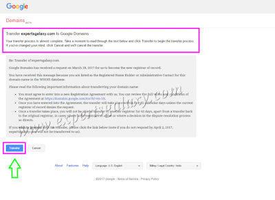 Transfer Your Domain To Google