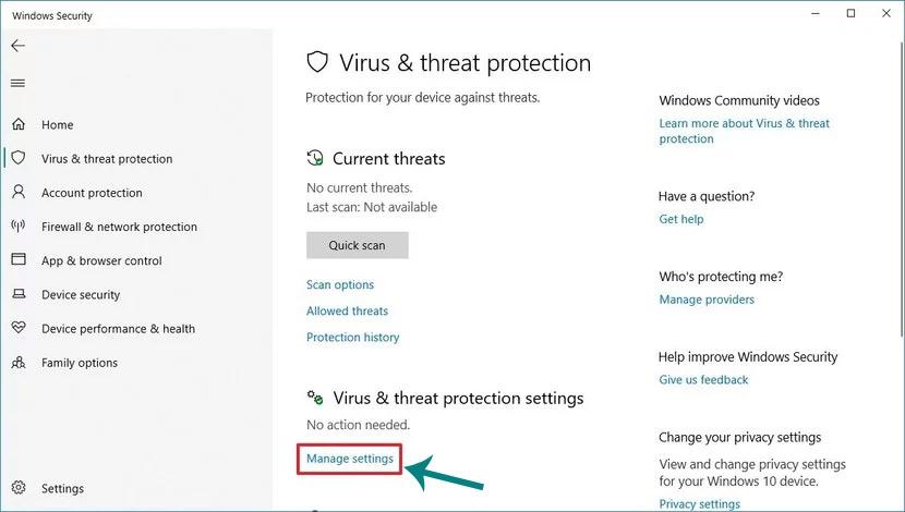 تعطيل Windows Defender Antivirus بشكل دائم على نظام Windows 10