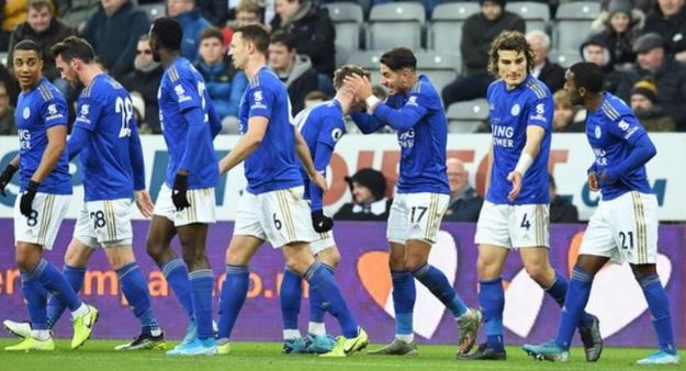 Superb Leicester defeat 10-man Newcastle