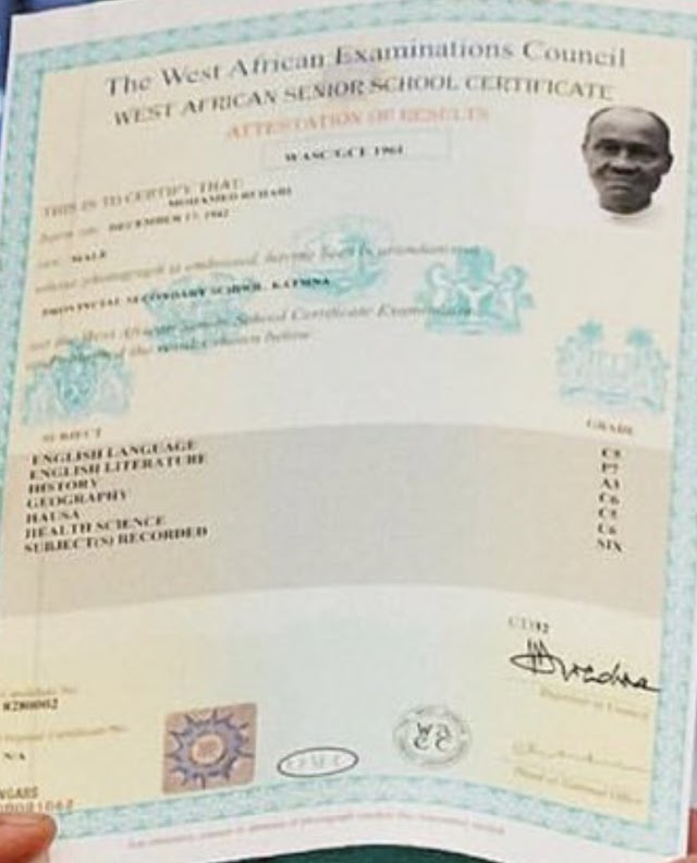 "Witness what is in Nigeria ""Trick of The Highest Order"" – Nigerians React As WAEC Confirms Buhari's Result."